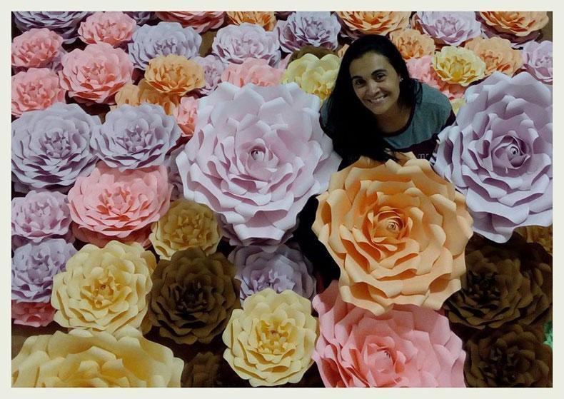 Ambientación De Casamientos Con Flores De Papel