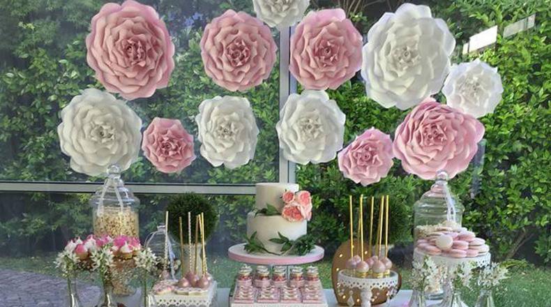 flores de papel para casamientos