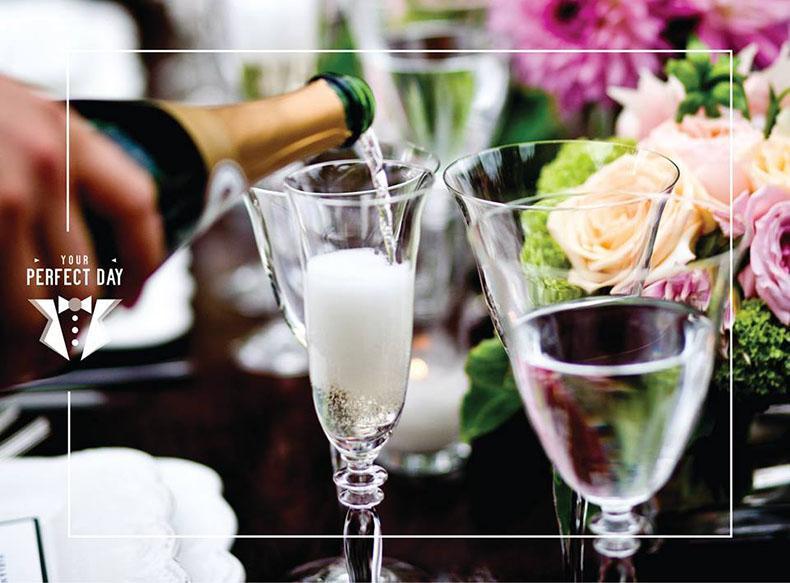 servicio de barras y tragos para fiestas de casamiento. Champagne, vino y cerveza libre