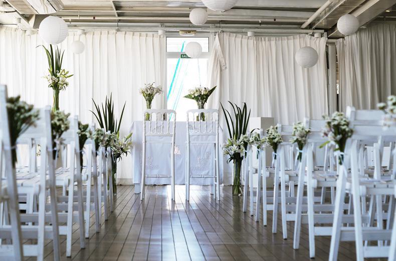 Ambientacion de ceremonia de casamiento y civil. Dinucci Paisajismo