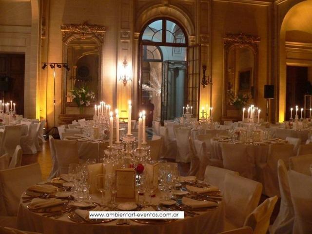 Centros de mesas , candelabros . | Casamientos Online