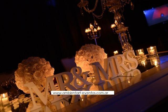 decoracion de mesa principal  | Casamientos Online
