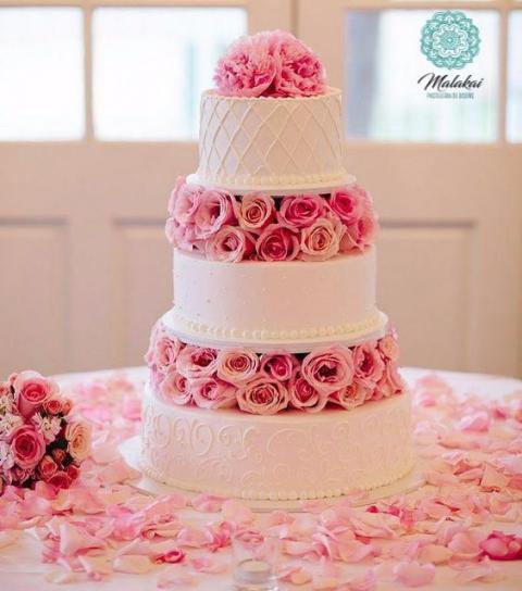 Torta de Bodas Flores | Casamientos Online