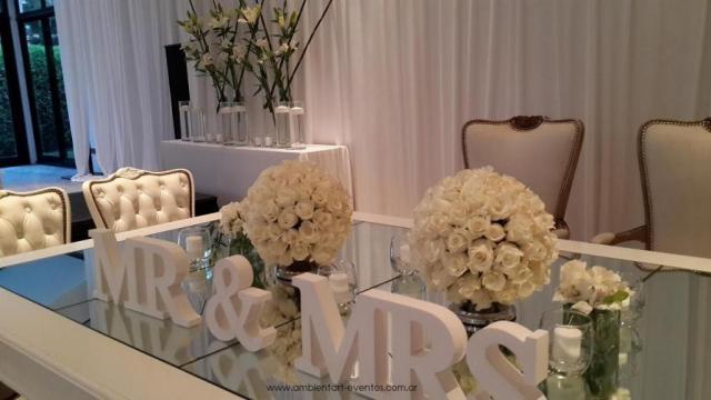 mesas cabeceras  | Casamientos Online