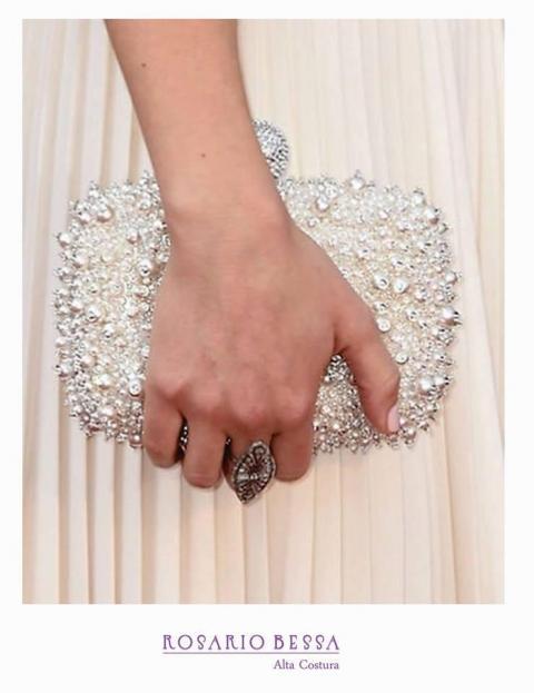 Rosario Bessa - Clutch o cartera de mano para novia