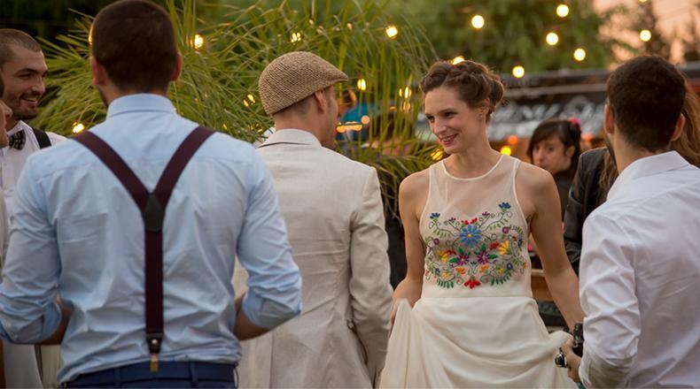 Vestidos de novia de color!