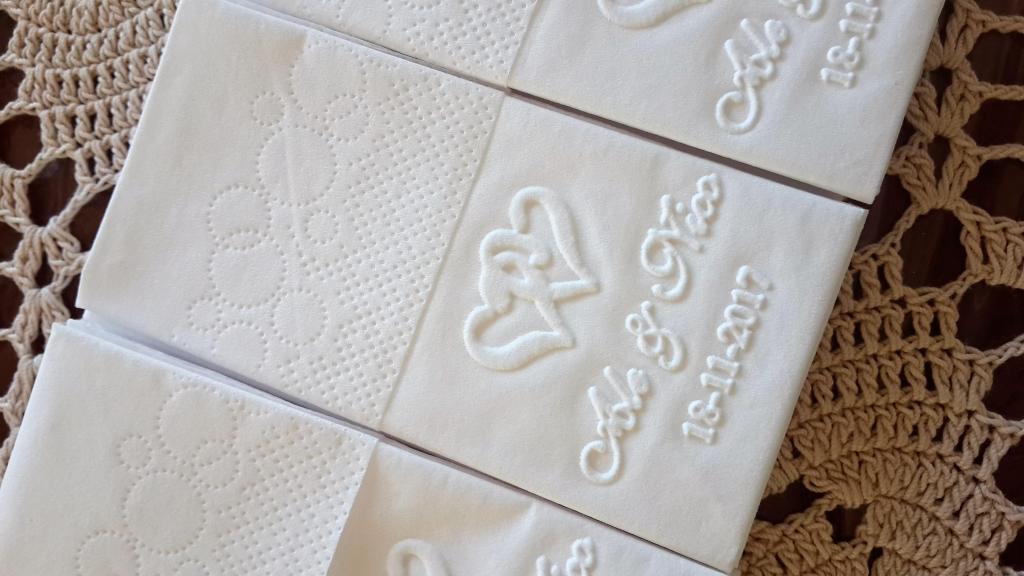 Pañuelos personalizados de papel tisú