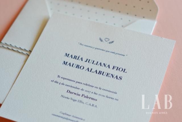 Pack invitación clásica | Casamientos Online