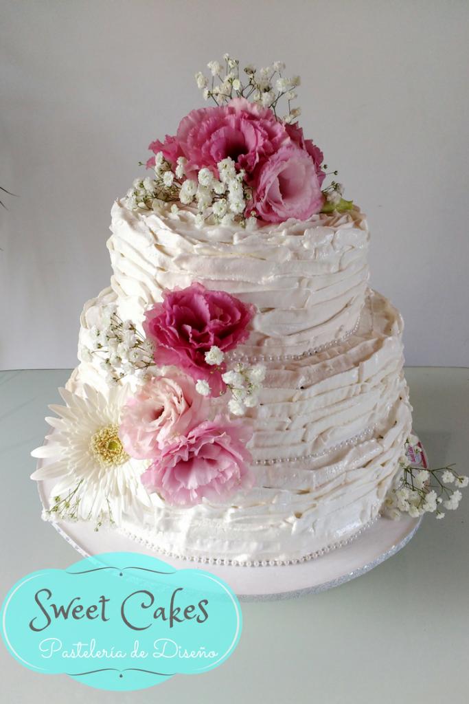 Torta de Boda - Flores Naturales