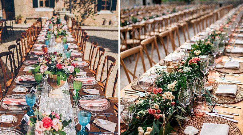 Tipos de mesas para banquetes