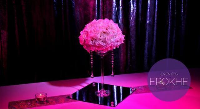 Centro de mesa Formal Gold | Casamientos Online