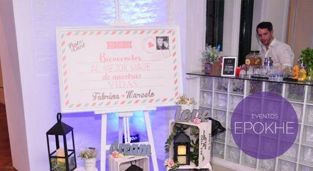 Eventos Epokhe - Cartel de Bienvenida | Casamientos Online