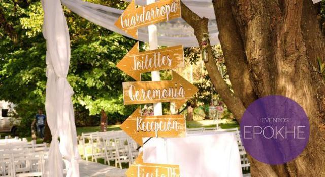 Eventos Epokhe - Cartel de flechas | Casamientos Online
