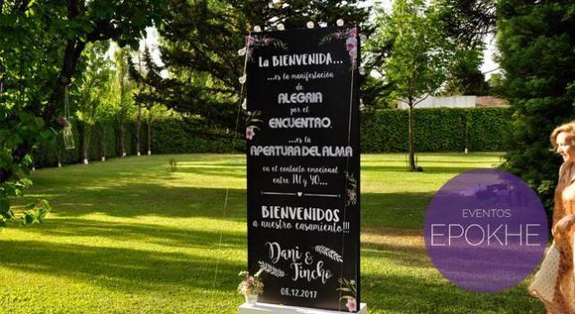 Eventos Epokhe - Totem - Bienvenida | Casamientos Online
