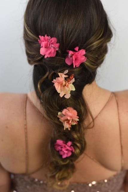 Pack de 3 Pins de Flores Preservadas