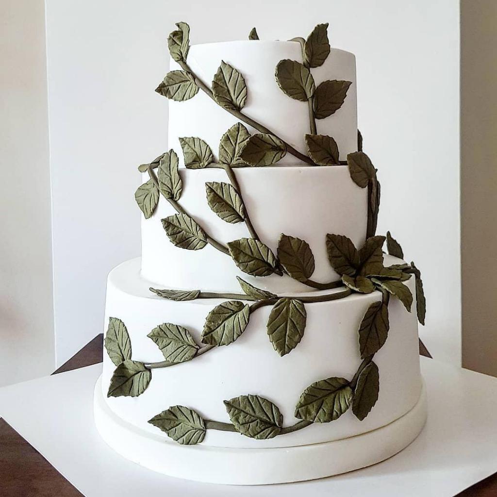 Torta de casamiento enredadera