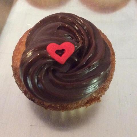Mini cake corazón