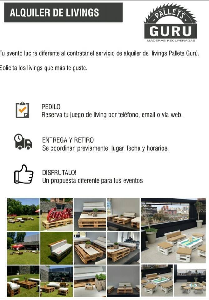 Gurú pallets - Alquiler de livings