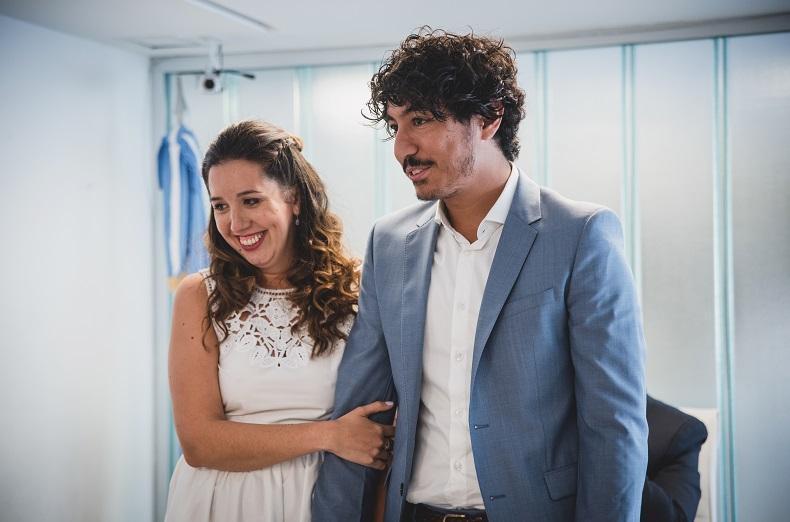 Primer momento como marido y mujer