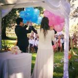 ritual con suelta de globos