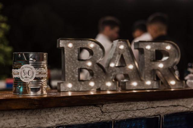 Cartel Luminoso BAR | Casamientos Online