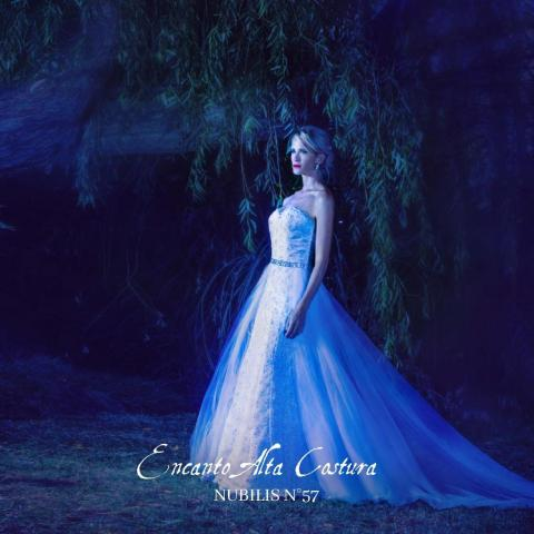 Vestido con cola desmontable Nubilis 57 | Casamientos Online