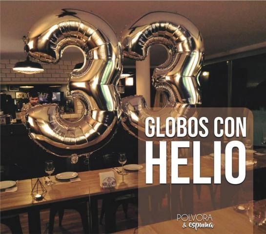 Pólvora y espuma Cotillón - Globos con helio