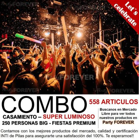 Combo Casamiento 250 personas - Big Party