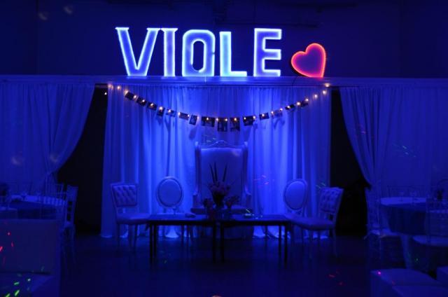 FIESTA 15 CARTEL NOMBRE LED | Casamientos Online