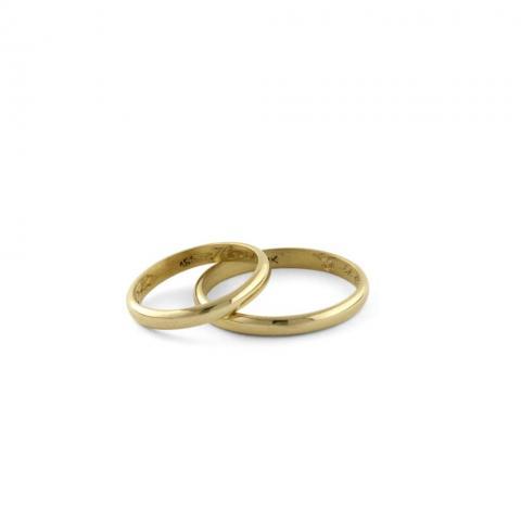 Alianzas media caña clásica | Casamientos Online