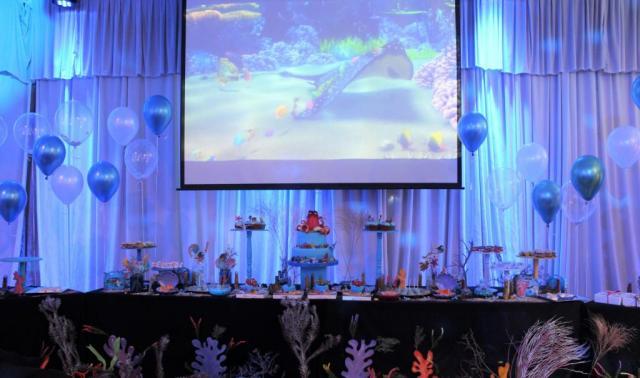 Ambientación y Pastelería Buscando a Nemo. | Casamientos Online