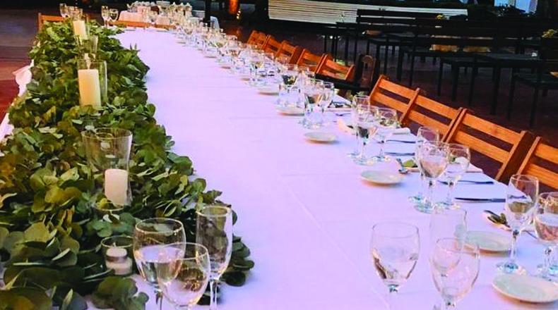 Mesas más informales para caterings mas desestructurados