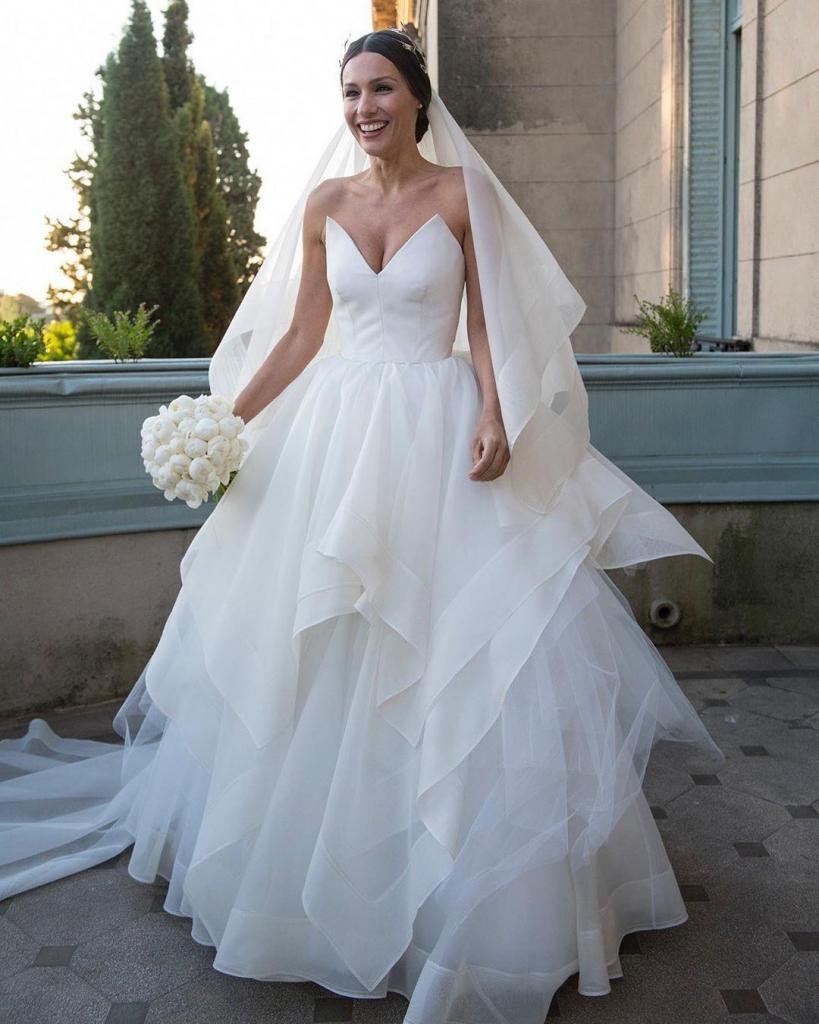 Un vestido de novia elegante