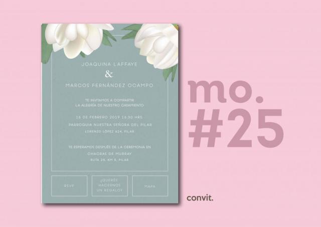 Convit Invitaciones (Participaciones) | Casamientos Online
