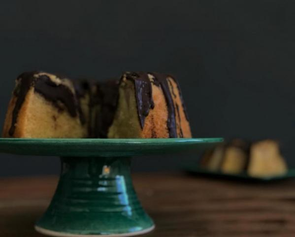 Budin de Pera y Chocolate