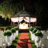 Ceremonia al aire libre - de noche