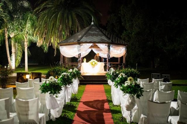 Ceremonia al aire libre - de noche | Casamientos Online
