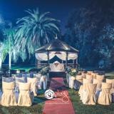 Ceremonia al aire libre, de noche