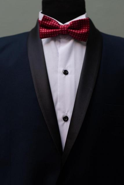 Smoking azul noche con solpa redonda o chal | Casamientos Online