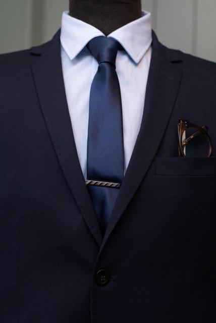 Traje Azul Ultra Slim | Casamientos Online