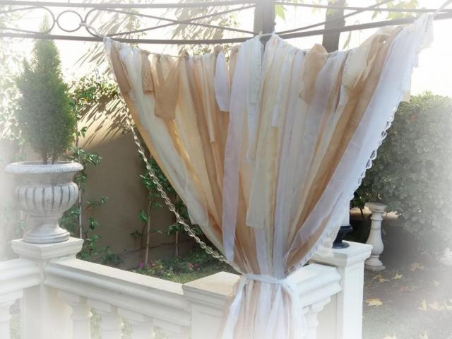 Cortina ambientaciòn flecos shabby vintage | Casamientos Online