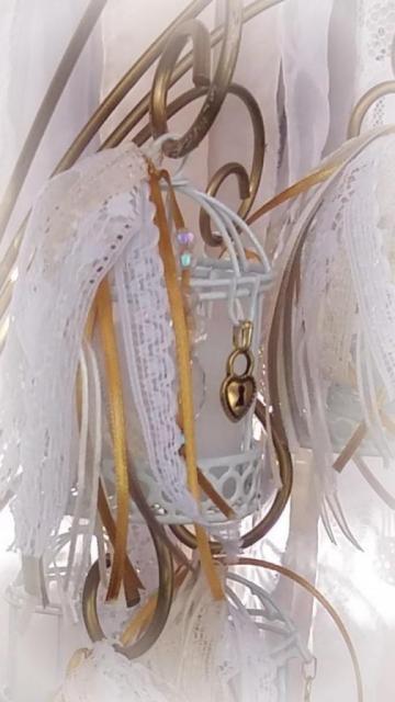 Jaula vintage Souvenir Golden | Casamientos Online