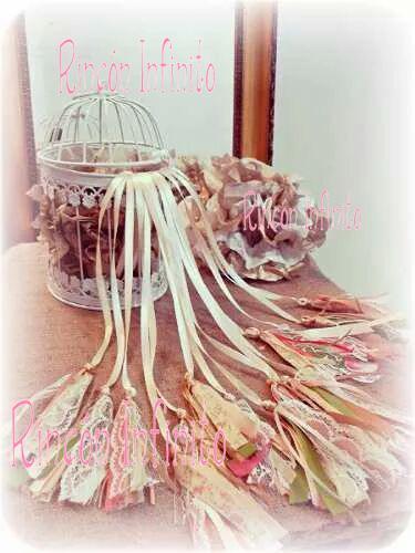 Ceremonia de cintas jaula dijes vintage shabby Rincòn Infinito