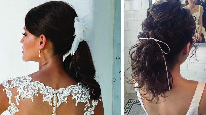 El lazo hecho moño suma romanticismo al peinado