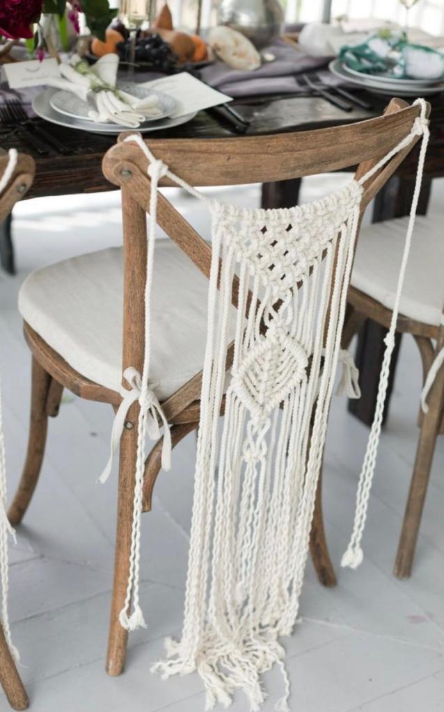 Colgantes de Macrame para sillas