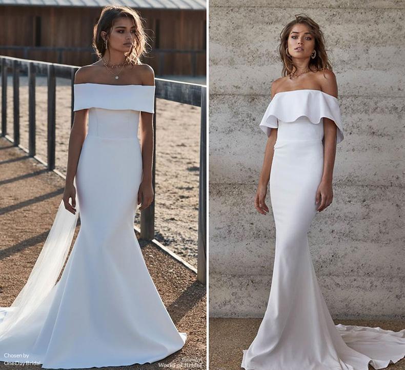 Vestidos de novias contemporaneos de lineas net