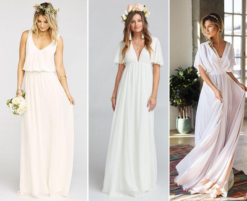 Ideas de vestidos de novia sencillos. Cuando menos es mas!