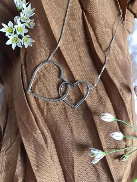 Collar corazones enlazados Plata 925