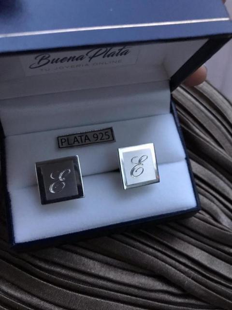 Gemelos personalizados de plata