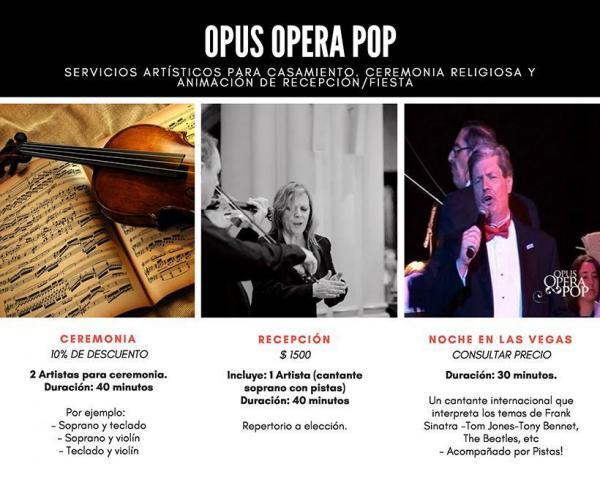 Opus Opera Pop (Shows Musicales) | Casamientos Online